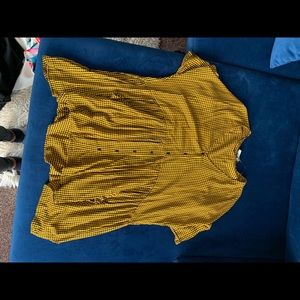 Oversized plaid Zara babydoll mini dress worn once